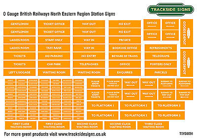 British Railways North Eastern Region Model Railway Station Signs - O Gauge 7mm