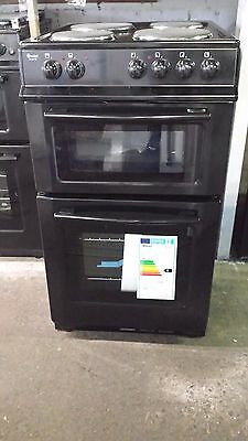 SWAN SX2011B 50cm Wide Twin Cavity Electric Cooker- Freestanding / Black
