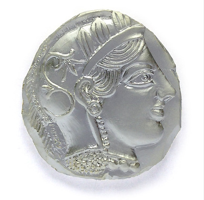 Sold Out LE Silver Ancient Greek Geocoin - Athena Goddess Owl -TETRADRACHM NEW