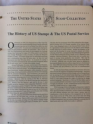 USA postage stamps album collection. 585 mint stamps 1929 - 1993