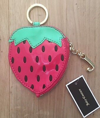 Authentic Juicy Couture Palm Oasis Strawberry Coin Purse