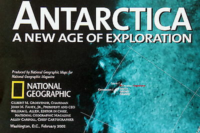 Antarctica  National Geographic Map / Poster Feb 2002