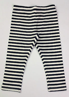 Girls CHARLIE & ME 3/4 Navy/White Striped Leggings Ages 2, 3 & 4 Years BNWT