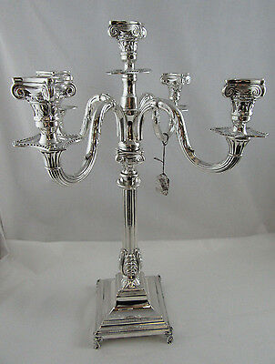 Gorgeous Candelabra 5 branch 1068 Grams Sterling Silver 925 Heigth 19 1/2