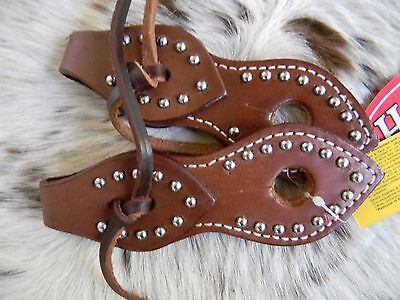 Pair Western Medium Oil Leather Slobber Straps For Horse Bridle Reins or Mecate
