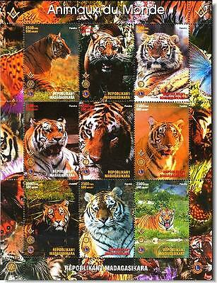 TIGER TRIBUTE massoneria franc-maçonnerie SHEET MINT MNH ** MASONIC FREEMASONRY