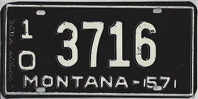 1957 MONTANA LICENSE PLATE Prison Made in Excellent Condition