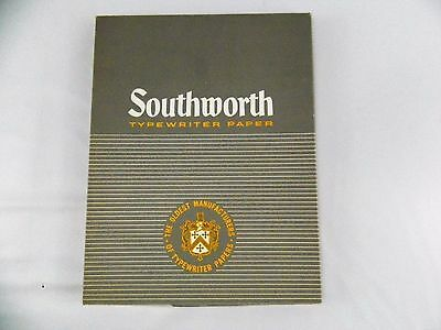 Vintage Southworth Typewriter Paper Racerase 25% Cotton 20 lb Heavy Weight Plain