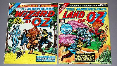 Marvelous LAND OF OZ #1 WIZARD OF OZ #1 2pc Marvel Treasury Comic Lot UNREAD