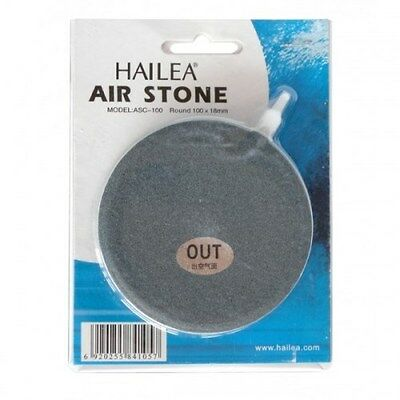 "Hailea 4"" 10cm 100mm Grey Large Flat Circular Air Stone Aquariums & Hydroponics"