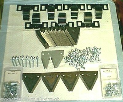 """SWITCH MASSEY FERGUSON 31-41 SICKLE MOWER RIVET to BOLTS KIT WITH 2 1/8"""" CENTERS"""