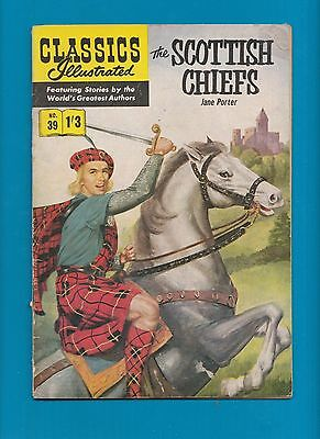 Classics Illustrated Comic Book # 39 The Scottish Chiefs   #722