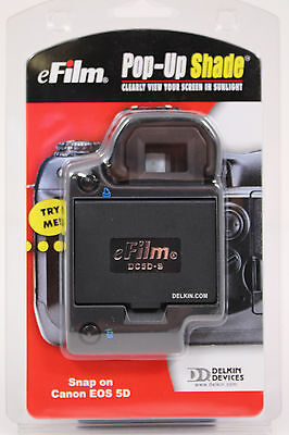 DELKIN DEVICES eFILM POP-UP SHADE FOR CANON EOS  5D  //NEW\