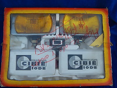 CIBIE - VINTAGE - COFFRET FEUX ANTIBROUILLARDS / Fog light box - TOP + !