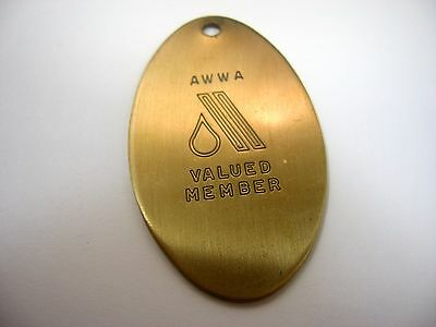 Vintage Collectible Keychain Charm: AWWA Valued Member American Water Works Assc