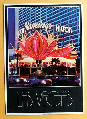 Las Vegas Hilton Flamingo Hotel Resort  --used postcard - 1985