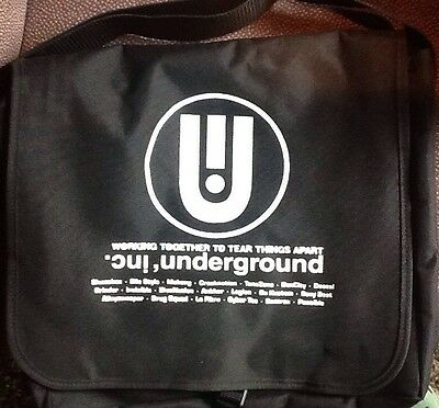 Underground, Inc. Limited Edition Black Canvas Dj Tote For Vinyl Records