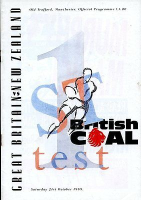 Great Britain v New Zealand - British Coal 1st Test - 21st October 1989