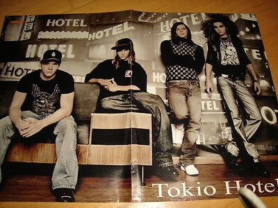 Tokio Hotel Poster  Popcorn Poster German great condition