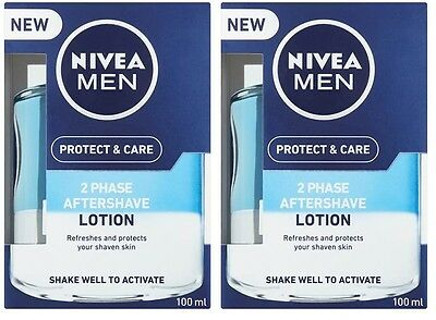 Nivea Men Protect & Care 2 Phase Aftershave Lotion 100ml twinpack (200ml total)