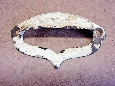 """Antique Single Drawer Pull 4"""" Wide Rustic Old Paint Very Decorative & Ornate"""