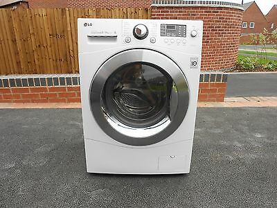 LG Washer/Dryer 8kg wash/6kg dry load. B energy rating. White. 1400 rpm spin