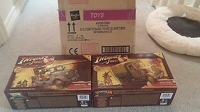 Indiana jones cargo truck and troop car raiders of the lost ark new.