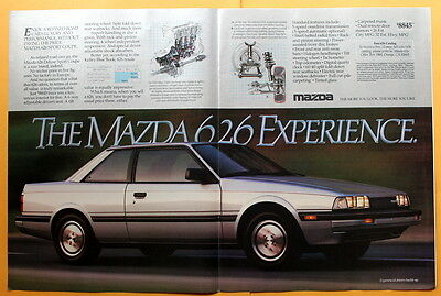 1984 Magazine Print Ad for a Mazda 626 Deluxe Sport Coupe
