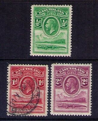 BASUTOLAND Stamps,KGV SC # 1-3 MH/USED
