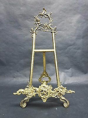 "Vintage Ornate shabby chic Easel Picture Holder Art Display Stand 21"" Large Size"