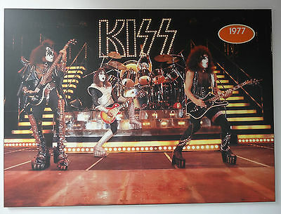 KISS Band Poster Plaque 1977