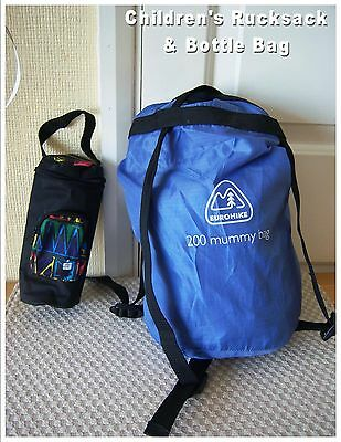 Children's Teens Rucksack + Bottle bag (#223) Sport Kids Backpack Travel Scouts