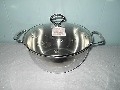 Princess House Stainless Steel Classic 8-Qt~Serving Casserole~FREE SHIPPING!