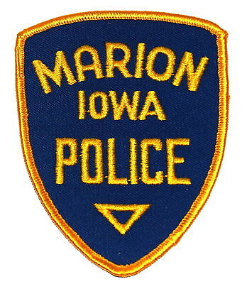MARION IOWA IA Police/Sheriff Patch VINTAGE OLD MESH ~