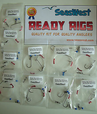 5 or 10 High Quality Pulley Rigs - Made in Britain