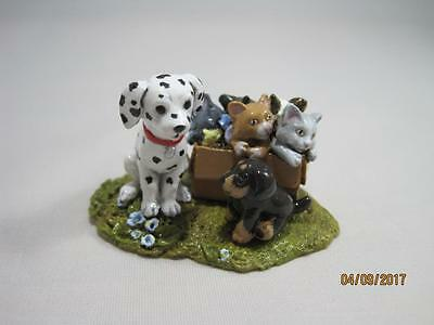 Wee Forest Folk Ltd Ed Beary Cute Bears 2014 Woods Humane Society - WFF Box