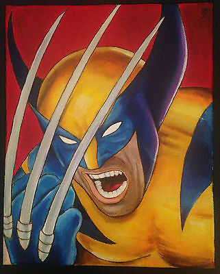 Original Painting 1/1 Wolverine after Horn 8x10 acrylics on canvas Kevin Munroe