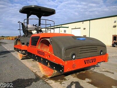 2008 Volvo DD112HF Smooth Double Drum Roller Vibratory Compactor, only 2450 Hrs