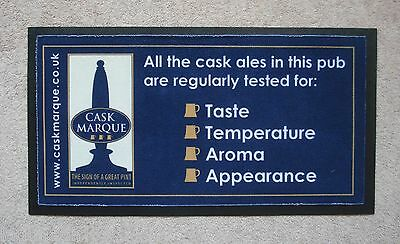Cask Marque Small Rubber Backed Bar Runner Beer Pub Home Bar Man Cave