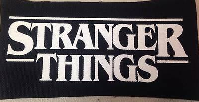 Stranger Things Logo DIY PUNK PATCH Netflix Horror Sew On Silkscreen*
