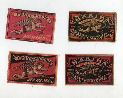 VERY OLD match box labels CHINA or JAPAN patriotic #909