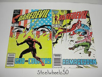 Daredevil #232 & 233 Comic Lot Marvel 1986 Born Again 1st Appearance Nuke Miller