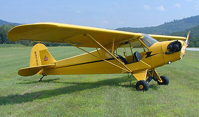 "Model Airplane Plans (RC-FF): Piper J3 Cub 34"" Scale for ¼A Engine (Flyline)"