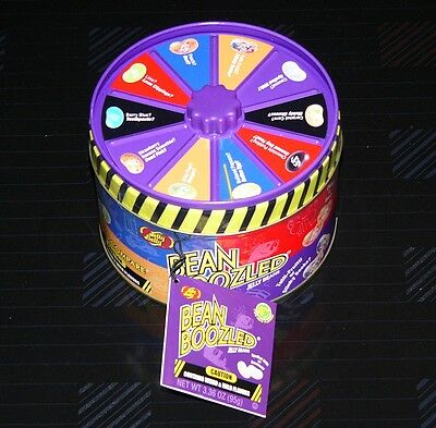 Jelly Belly Tin Can Beans Boozled with Spinner Wheel Game weird & wild Flavors