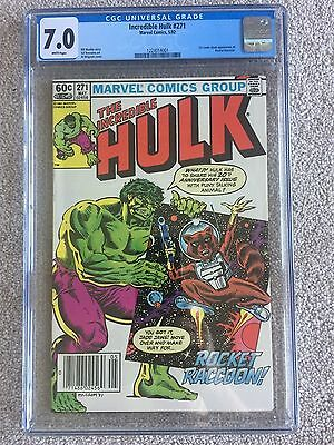The Incredible Hulk #271 (May 1982, Marvel) ~ CGC 7.0 FN/VF ~ 1st ROCKET RACCOON