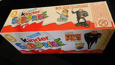 Despicable Me 3 Minions 2017 Kinder Surprise 3 packs full not opened
