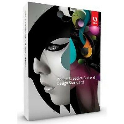 ADOBE Design Standard CS6 Windows deutsch Vollversion DVD BOX Karton