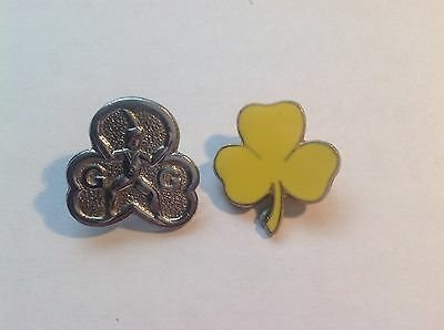 Two 1970s GIRL GUIDE Vintage Metal Badges