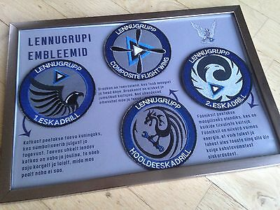 Rare Estonian Air Force Composite Wing patches gift set