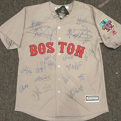Red Sox 2016 Signed Autographed Jersey Boston David Ortiz Final Betts Bogarts 23